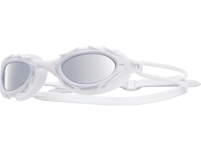 TYR Nest Pro Nano Okulary pływackie metalizowane, white
